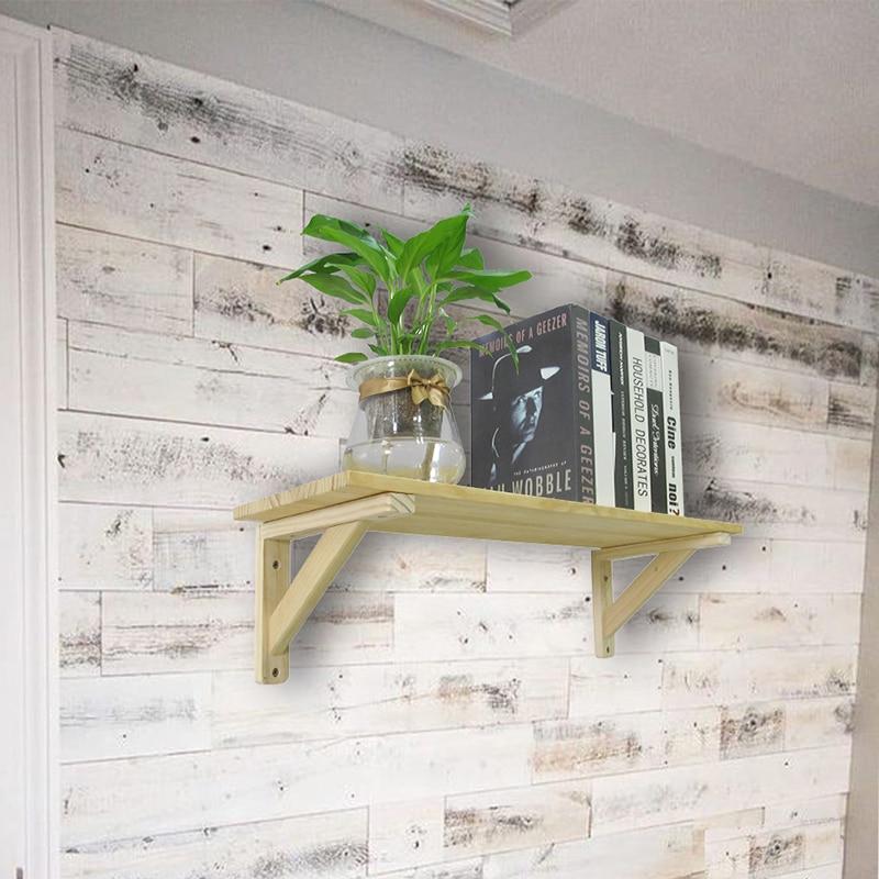 2PCS Triangle Pine Wood Angle Bracket Heavy Support Wall Mounted Bench Table Shelf Bracket Home Decoration