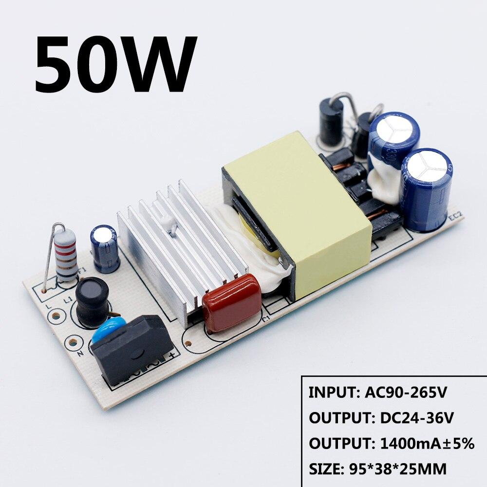 Светодиодный драйвер 20 Вт 30 Вт 40 Вт 50 Вт DC24-36V источник питания постоянного тока Автоматическое управление напряжением Трансформаторы освещения для светодиодных ламп