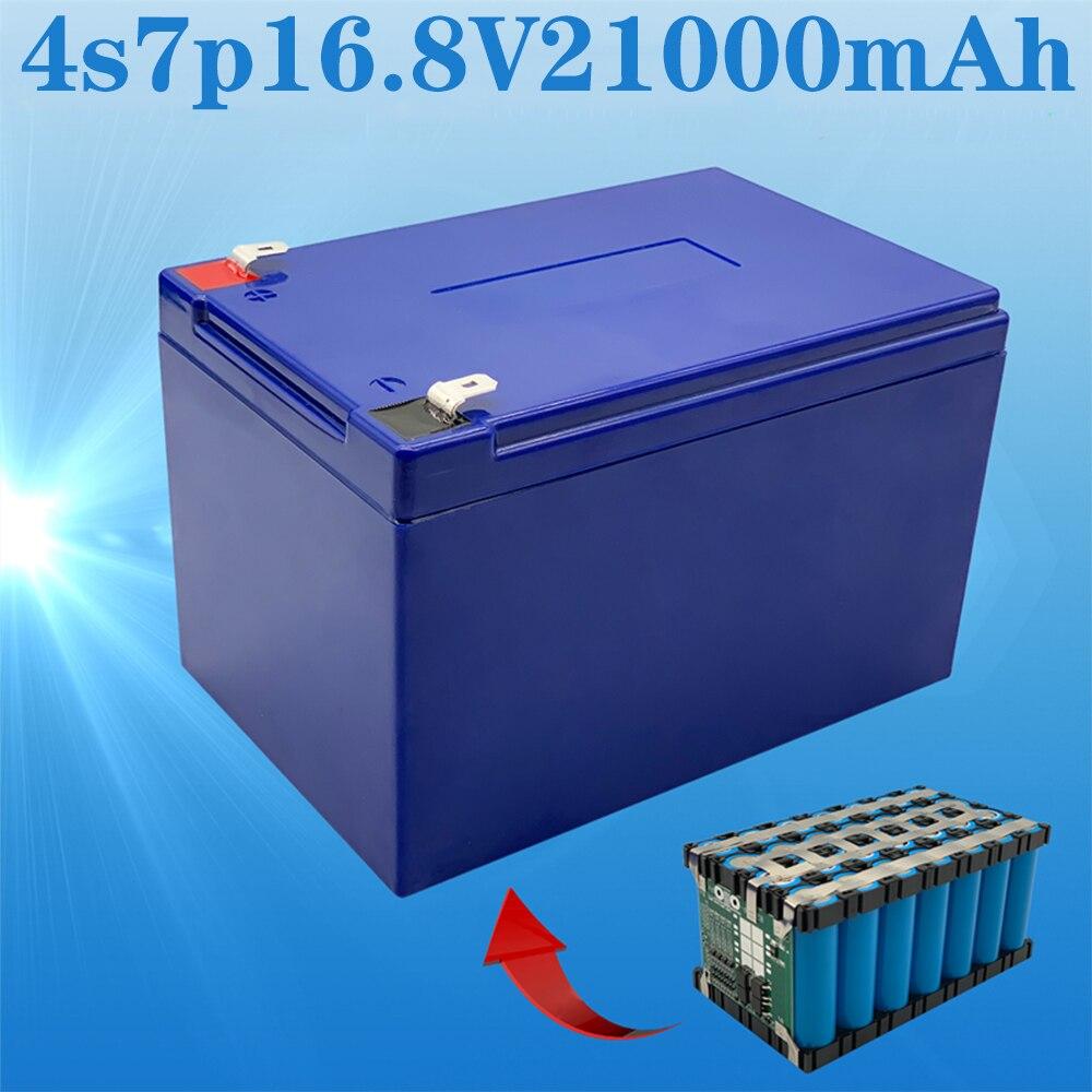 بطارية 16.8 فولت ، 21ah 4s7p 14.8 فولت 16.8 فولت ، مناسبة ل ncr18650ga ، مع 30A BMS ، عالية الطاقة ليثيوم أيون العاكس ، بجولة سيارة الشمسية