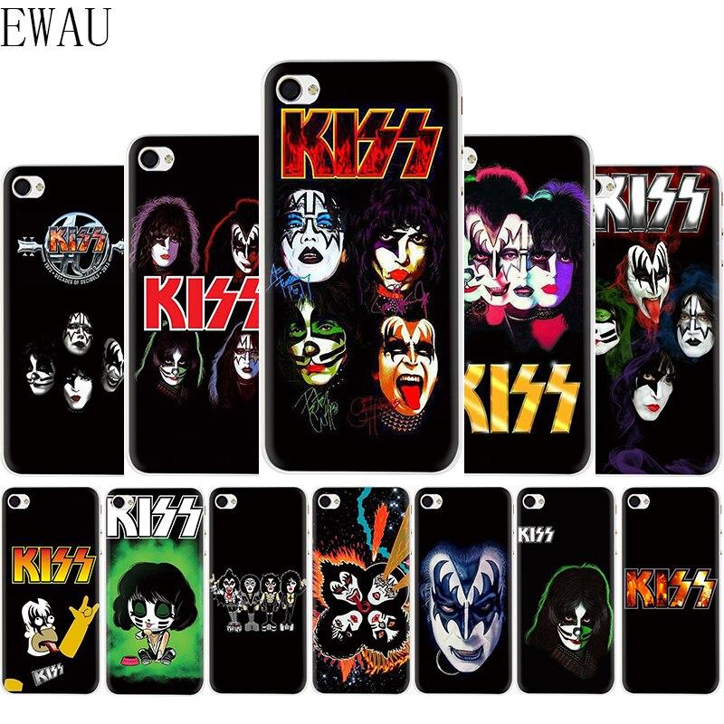 Ewau beijo banda silicone macio mattle telefone capa para iphone 5 5s se 6s 7 8 plus x xr xs max 11 pro max