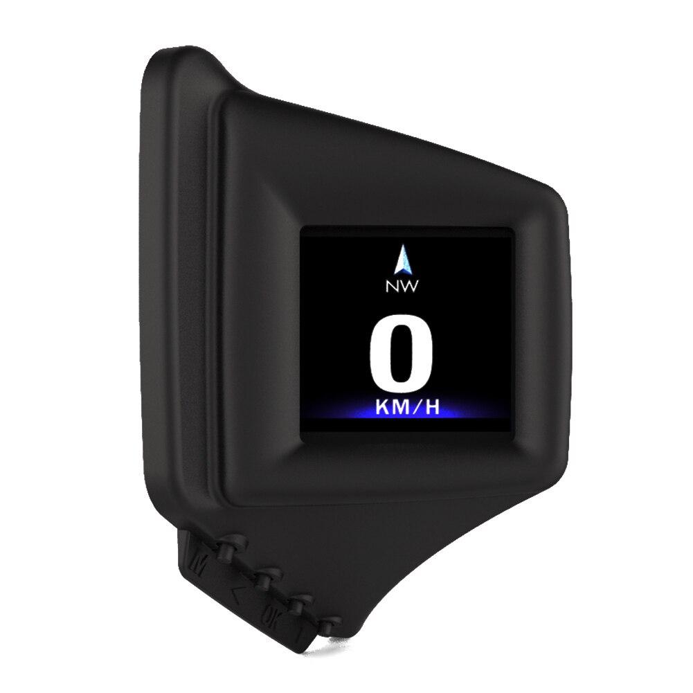 OBD GPS Dual System Head-up Display Display 12VCar Digital Hud GPS Speedometer 2 Inch LCD Overspeed Alarm Car Speed Projector