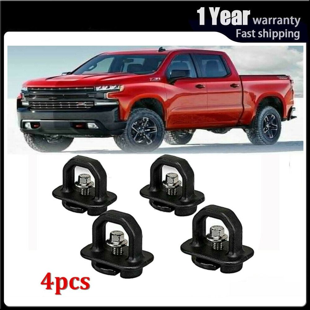 4pcs Car accessories Tie Down Anchor Truck Bed Side Wall Anchor Pickup for Chevy Silverado Colorado GMC Sierra Canyon 2007-2018