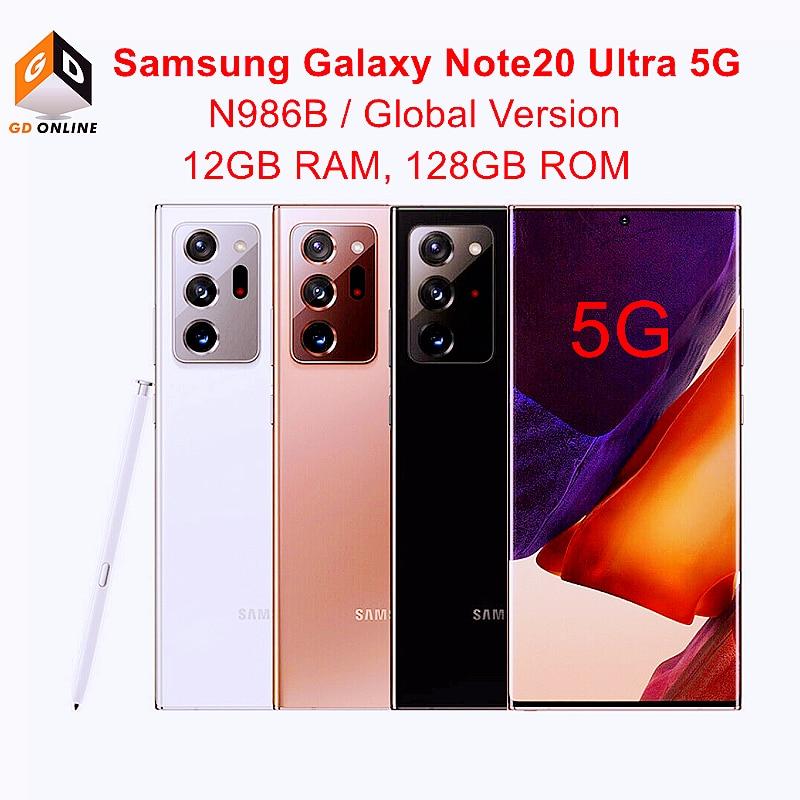 Samsung Galaxy Note20 Примечание 20 Ультра 5G N986B/DS глобальная версия 6,9 дюйм 12 Гб оперативной памяти 128 ГБ Octa Core 108MP + 12MP + 12MP Оригинальный чехол для телефона с ...