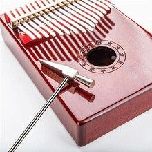 Pouce Piano Kalimba ton Tuning marteau Instrument de musique outil accessoire argent