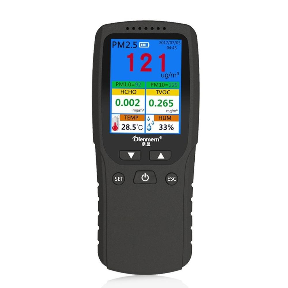 Probador de análisis de calidad del aire AQI PM1.0 PM2.5 PM10 HCHO TPV medidor de humedad y temperatura Detector de Gas herramienta de medición