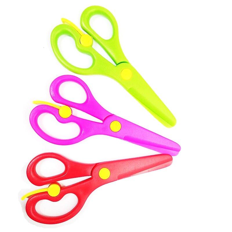 Ножницы ручной работы из АБС-пластика, Цветные Ножницы, не повреждают руки, офисная техника, домашнее хранение, безопасные ножницы для детей