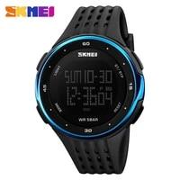 5pcslot skmei men digital watch waterproof male led display wristwatches chronograph alarm sport watches relogio masculino 1219