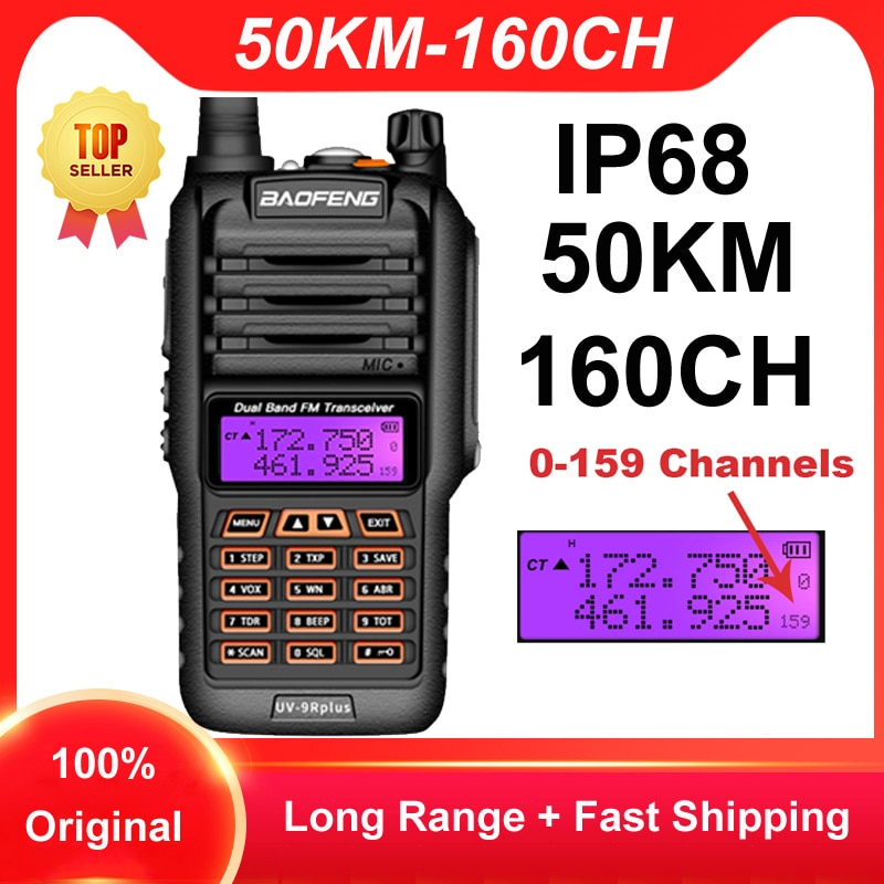 2021 Baofeng UV 9R زائد 160CH اسلكية تخاطب طويلة المدى 50 كجم اتجاهين راديو VHF UHF محطة راديو UV9R زائد CB هام HF جهاز الإرسال والاستقبال