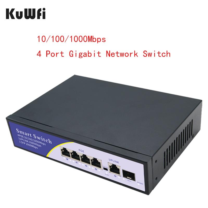 kuwfi interruptor de rede 5 portas poe suporte tridimensional at camera ip e ap sem