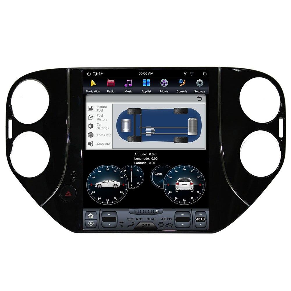 10.4-inch android9.0 tela vertical tesla estilo carro multimídia jogador gps navegação dsp rádio para 2010-2016 volkswagen tiguan