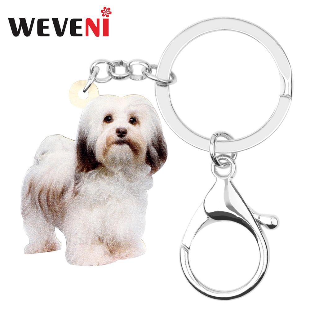WEVENI акриловый брелок для ключей с милой собачкой в виде собаки, трекер для домашних животных, кольцевая сумка, автомобильный кошелек, кошелек, брелки для девушек, новинка 2019 года, подарок
