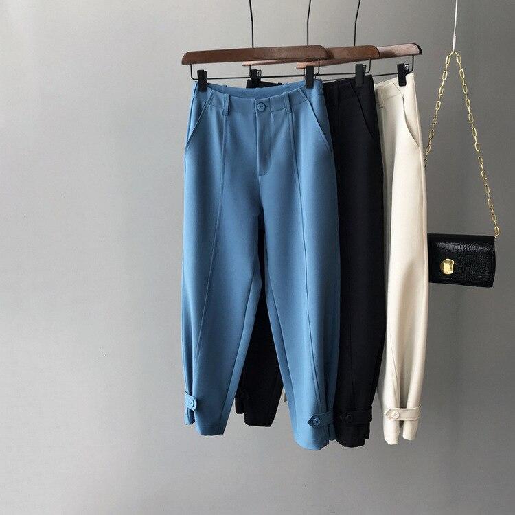 Otoño Invierno Pantalones mujer Ol Oficina alta cintura alta Mujer Pantalon inferior