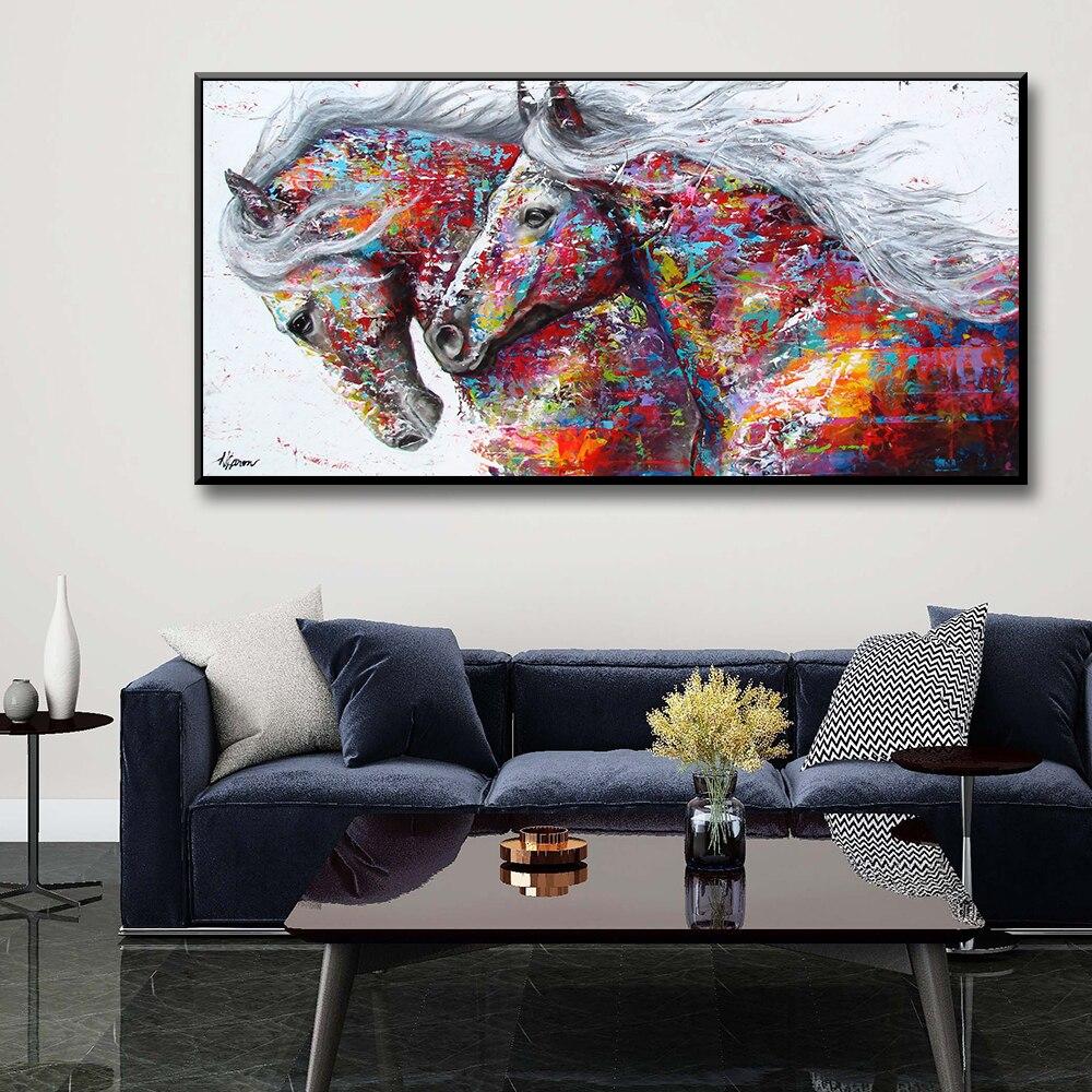 Heißer Aquarell pferd Tiere Leinwand Malerei Poster Und Drucke Wand Kunst Bilder Für Wohnzimmer Schlafzimmer Dekor