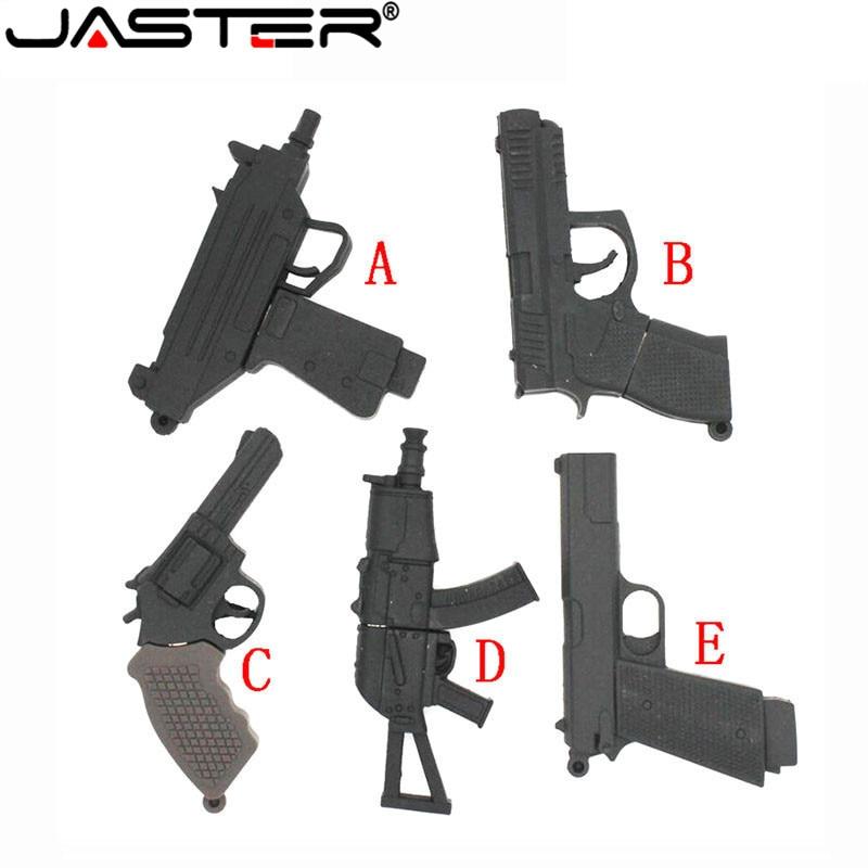 JASTER Cool ak47gun Modelo usb flash drive usb 2,0 pistola pendrive 8gb 16gb 32gb 64gb memoria Pendrives regalos