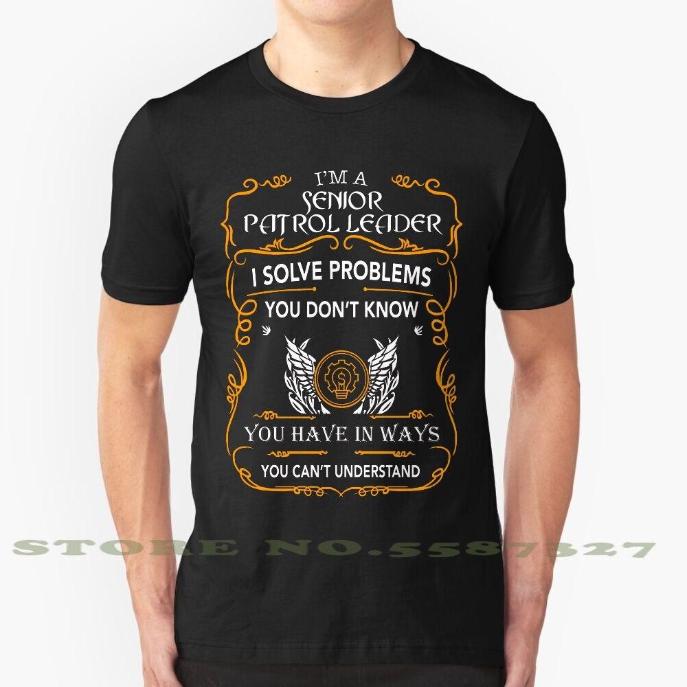 Líder de la patrulla Senior, camiseta de moda Vintage, camisetas, líder de la patrulla Senior, último diseño de patrulla Senior