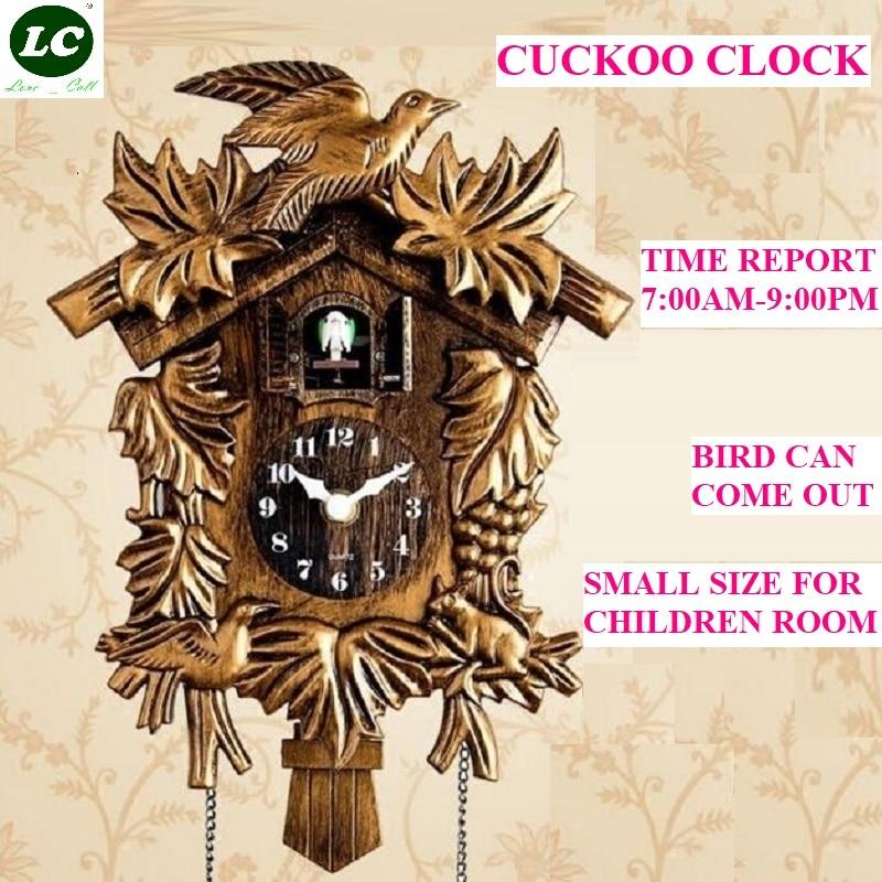 10 بوصة ساعة الوقواق غرفة المعيشة ساعة الحائط الطيور الوقواق الحديثة موجزة ديكورات غرفة الأطفال ساعة الوقواق