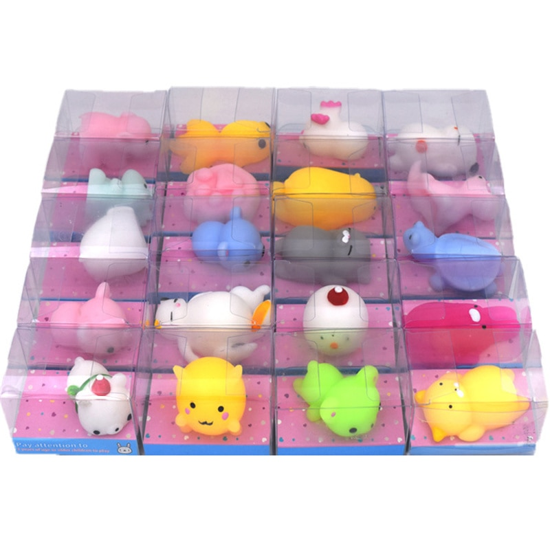 A set of boxed cute animals, squeeze music, vent, decompress, decompress, small dumplings, soft toys for children, birthday gift enlarge