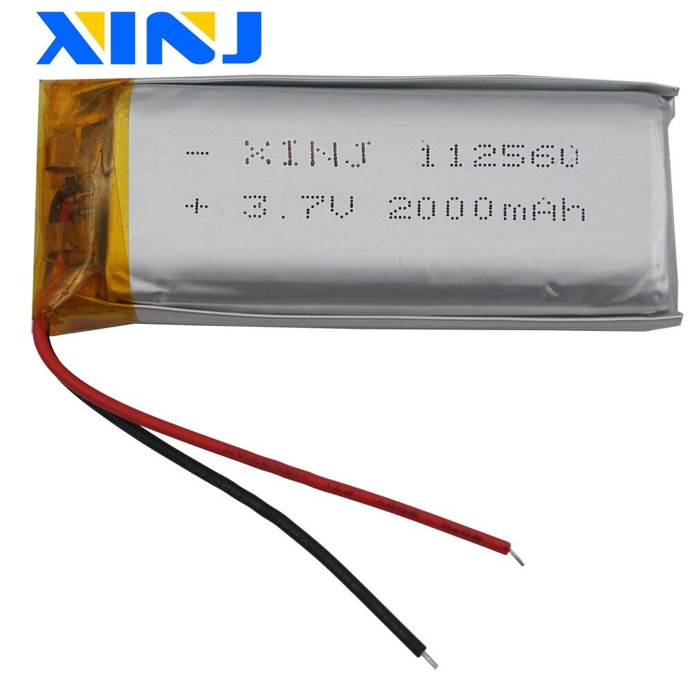 XINJ 3,7 V 2000mAh Lipo de polímero Li-ion, batería de 112560 para e-book de banco de potencia Monitor reproductor de vídeo Placa de DVD portátil Tablet PC