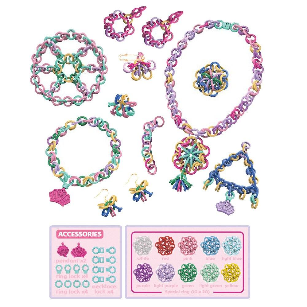 «Сделай сам», вязаный браслет, игрушки, универсальное изготовление бисера, вязальная цепочка, игрушки для девочек, детский браслет, Набор дл...