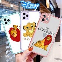 Чехол для телефона с мультипликационным изображением Диснея короля льва для Iphone 11 Pro Max 12 MINI XS Max 7 8 Plus XR, прозрачный матовый чехол накладка
