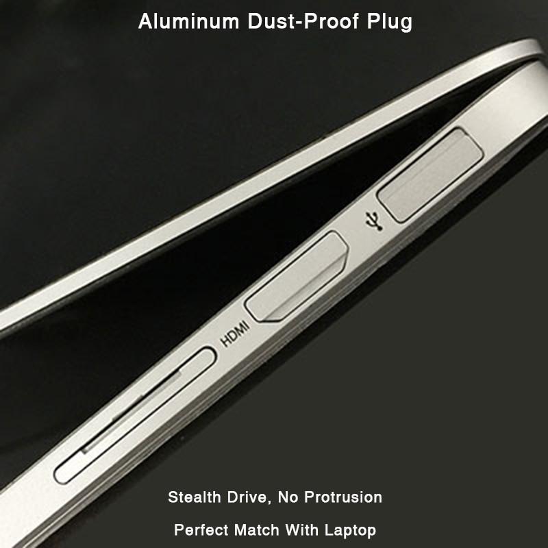 BaseQi Aluminum USB Interface Plug Completely Hidden Dust-Proof Plug For MacBook Pro Retina 13/15-inch