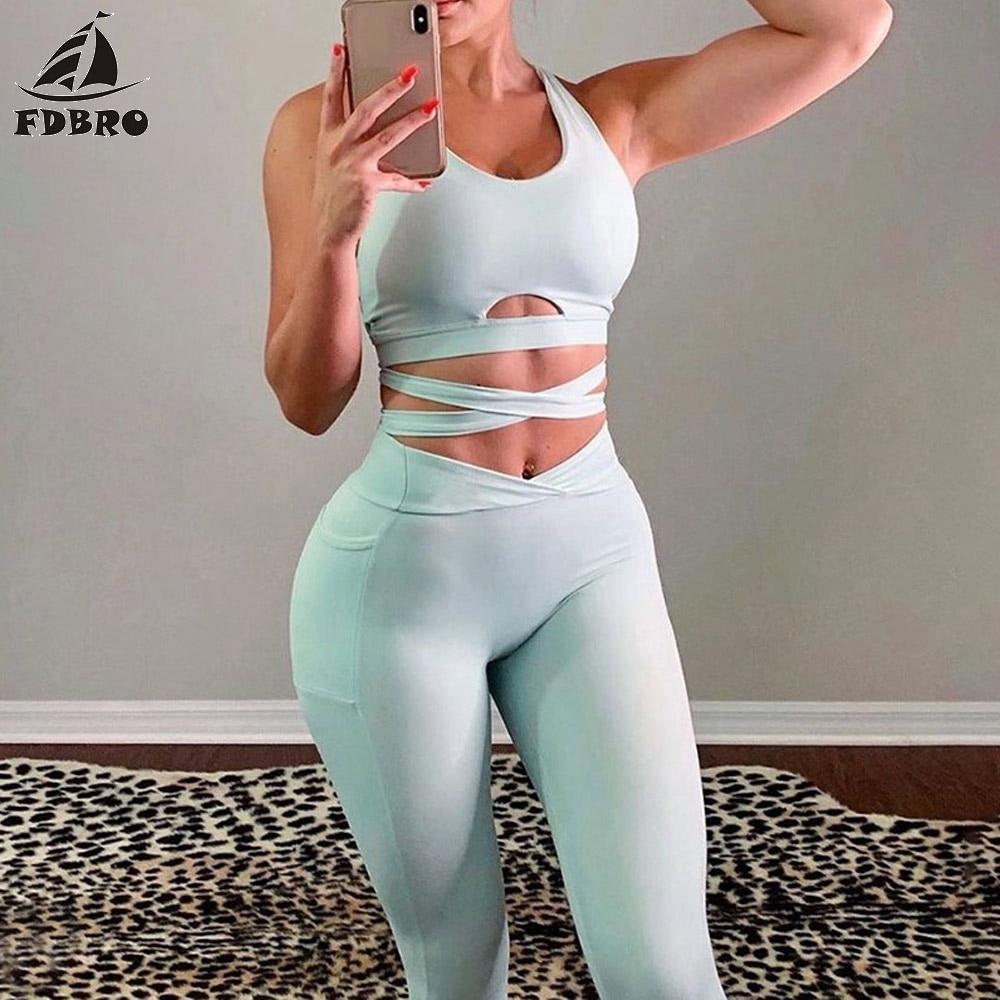 Sports Wear for Women Gym Yoga Set 2 Piece Set Women Short CropTop Skinny Leggings Sportswear Active Tracksuit Fitness Clothing