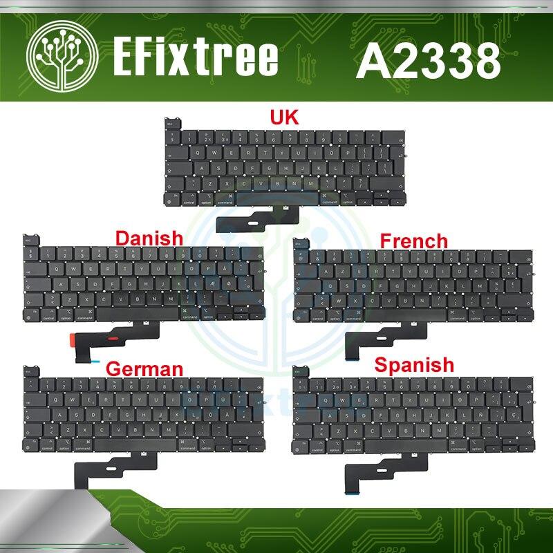 جديد 2020 لوحة مفاتيح A2338 للكمبيوتر المحمول ماك بوك برو الشبكية 13