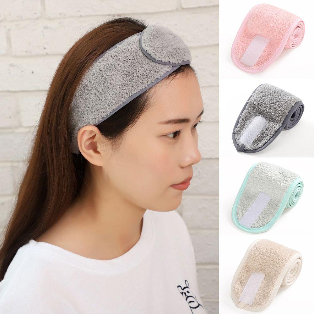 Diadema para maquillaje ajustable para mujer, gomas para el pelo para la cara, soporte para el pelo, diadema Facial Suave, accesorios para el cabello para SPA