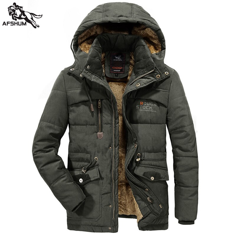 new mens long parka hooded thick warm cotton padded coat solid winter clothing size m 6xl t130 winter parka men coat size L 6XL 7XL 8XL Solid color jacket men's Plus velvet thick warm Mens jackets casual hooded Coats parka