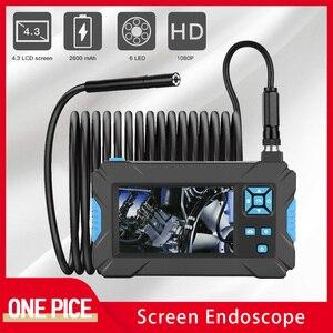 5.5 mm 4.3'' Screen Endoscope 1080P HD IP67 Waterproof Integrated Industrial Borescope 6 LED Handheld Car Repair Snake Camera D2