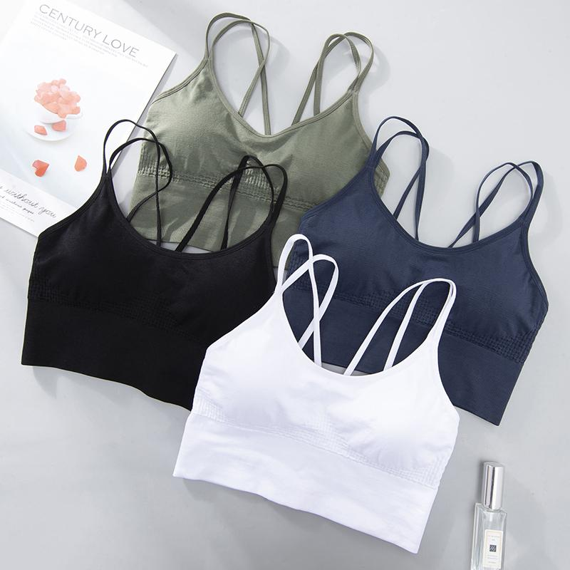 Bras For Women Motion Seamless Bra With Gathers Pad Comfortable Bralette Push Up Brassiere Bra Vest Wireless BH