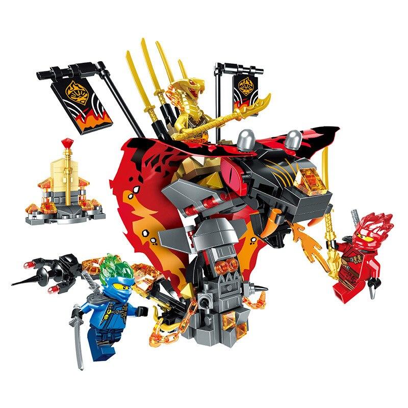 2019 NEW Series Lepining Ninjagoed The Cobra-like Fire Fang Snake Building Blocks Model Sets Bricks Classic For Toys Gift