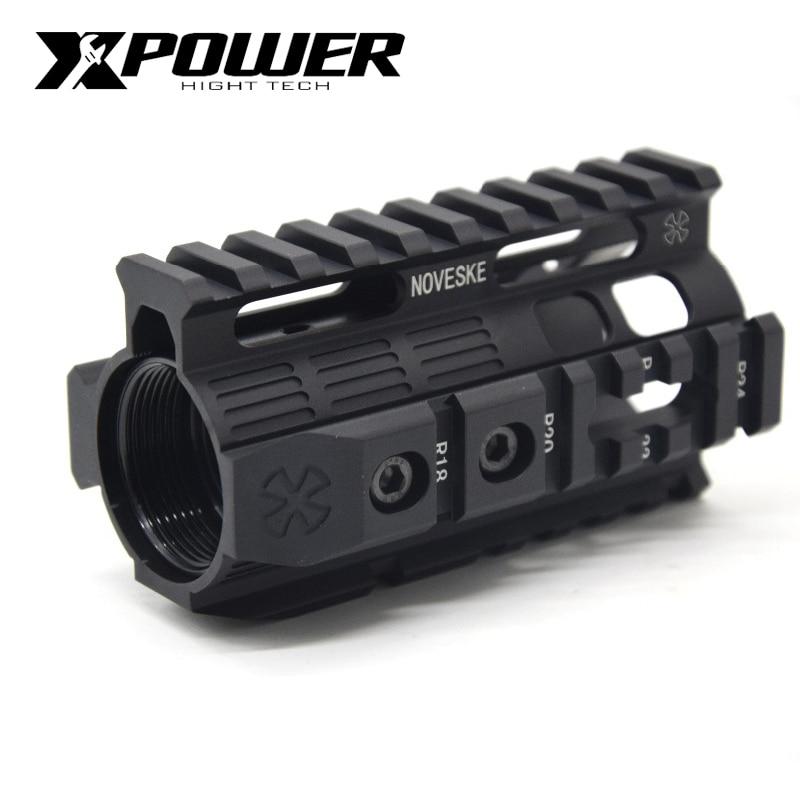 XPOWER Rail System 4/7/10inch Keymod M-LOK Handguard For AEG Airsoft Air Guns Paintball Gel Blaster Hunting Accessorie