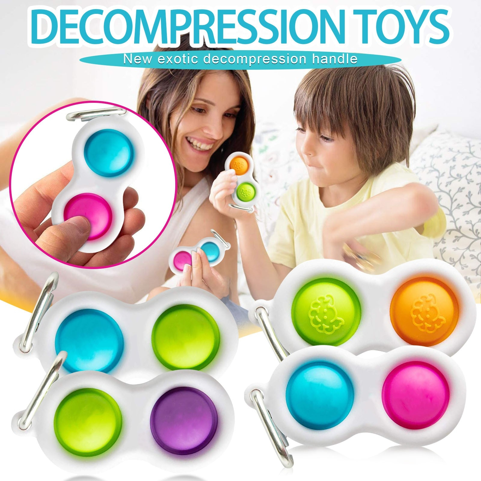 Children Adult Squeeze Fidget Sensory Toys Dimple Toy Pressure Reliever Board Controller Educational Stress Relief Board Toy 5* enlarge