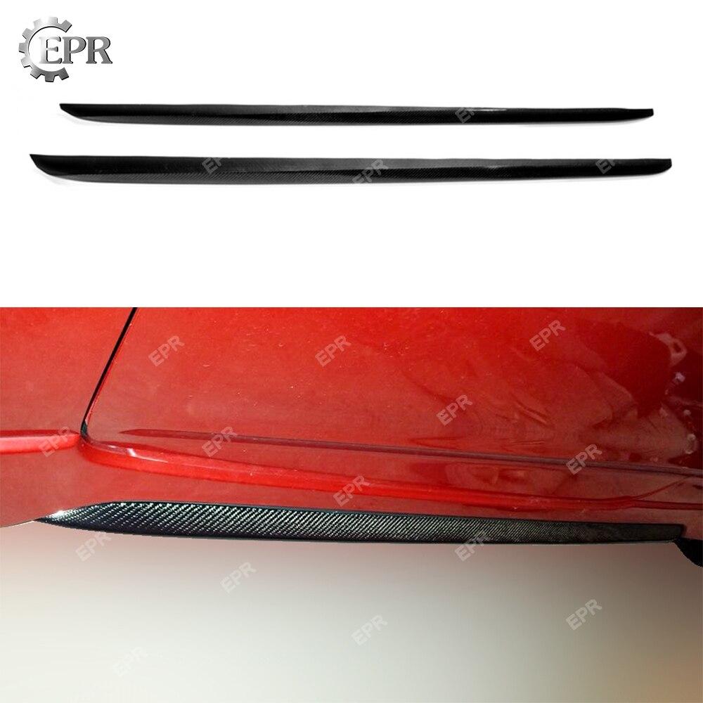 Falda lateral Crabon OEM extensible para Hyundai Veloster, cubierta de falda lateral de fibra de carbono, fibra brillante, carrera Exterior para sintonización velométrica