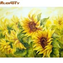 RUOPOTY-cadre photo peinture main par numéros   Kit fleurs paysage moderne, Art mural, toile par numéros pour décor de maison, Art