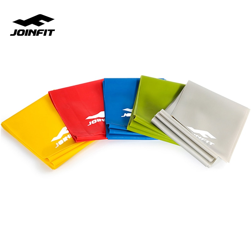 JOINFIT Fitness Sports 2M Yoga Pilates Elastic Bands Resistance Bands Exercise Equipment for Home Gym Workout Strength Training