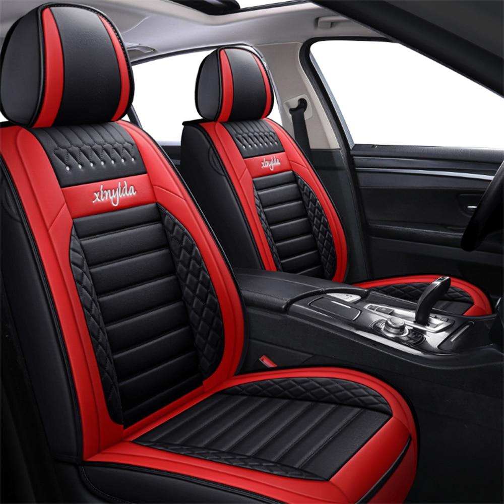 Fundas de cuero para asientos de coche, Protector de asiento para Mitsubishi...
