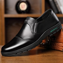 Men's Shoes Comfortable Men Casual Shoes Genuine Leather Breathable Loafers Slip-on Footwear Walking