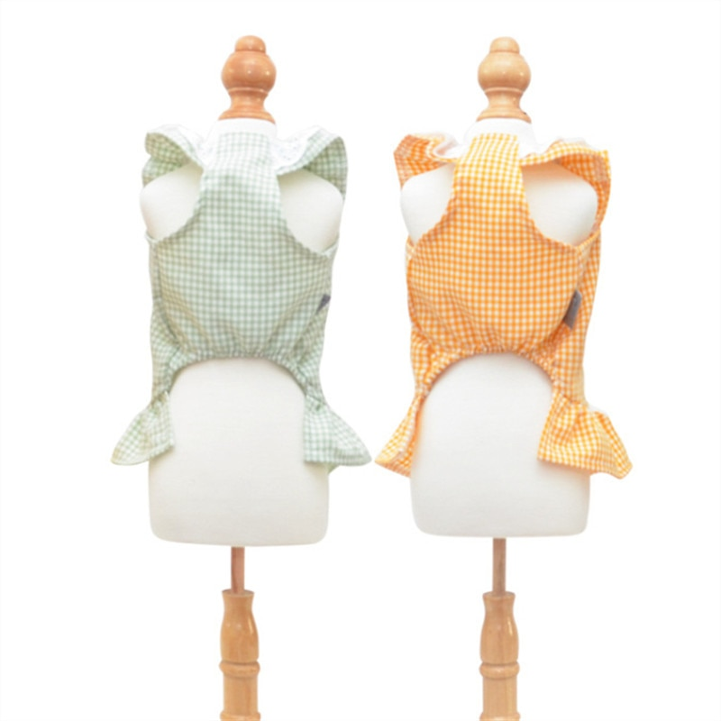 Summer Dog Dress Princess Girl Dog Costume Dresses Clothes Small Pet Outfit Puppy Cat Yorkie Pomeranian Schnauzer Poodle Skirt  - buy with discount