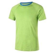 Merinos yünü spor T shirt erkekler taban katmanı 200GSM spor termal spor üstleri rahat kısa kollu