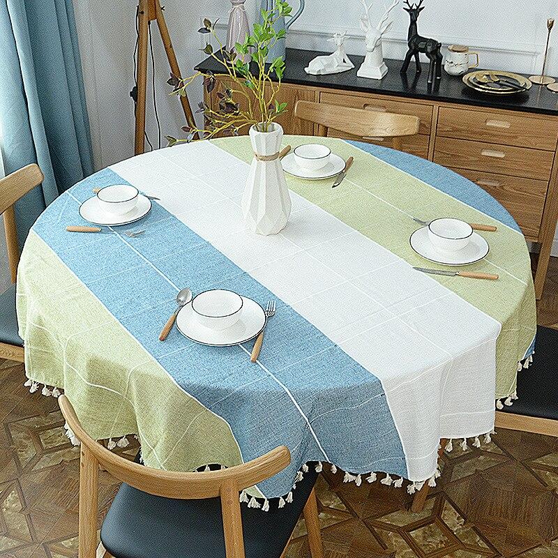 Rosa orgullosa de celosía paño de mesa redonda de algodón espesar ropa de mesa cubierta habitación decoración cubierta toalla Hotel manteles