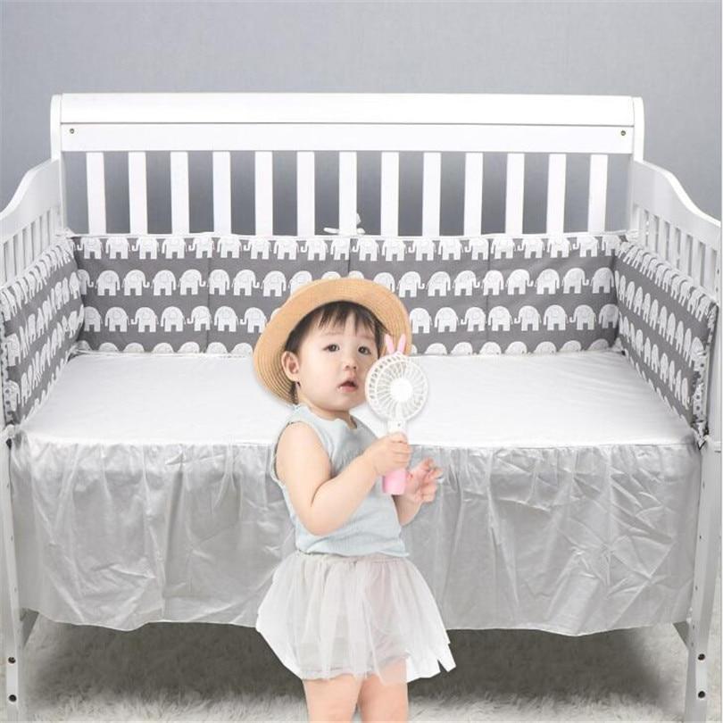 Newborn Baby Bumper Cot Protector Baby Bed Bumper Cartoon Infant Baby Crib Bumper Cushion Cotton Crib Protector Baby Room Decor