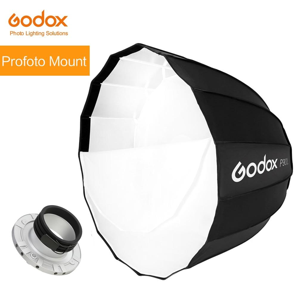 Godox портативный P90L 90 см Глубокий параболический софтбокс Profoto крепление студийная вспышка Speedlite отражатель Фотостудия софтбокс