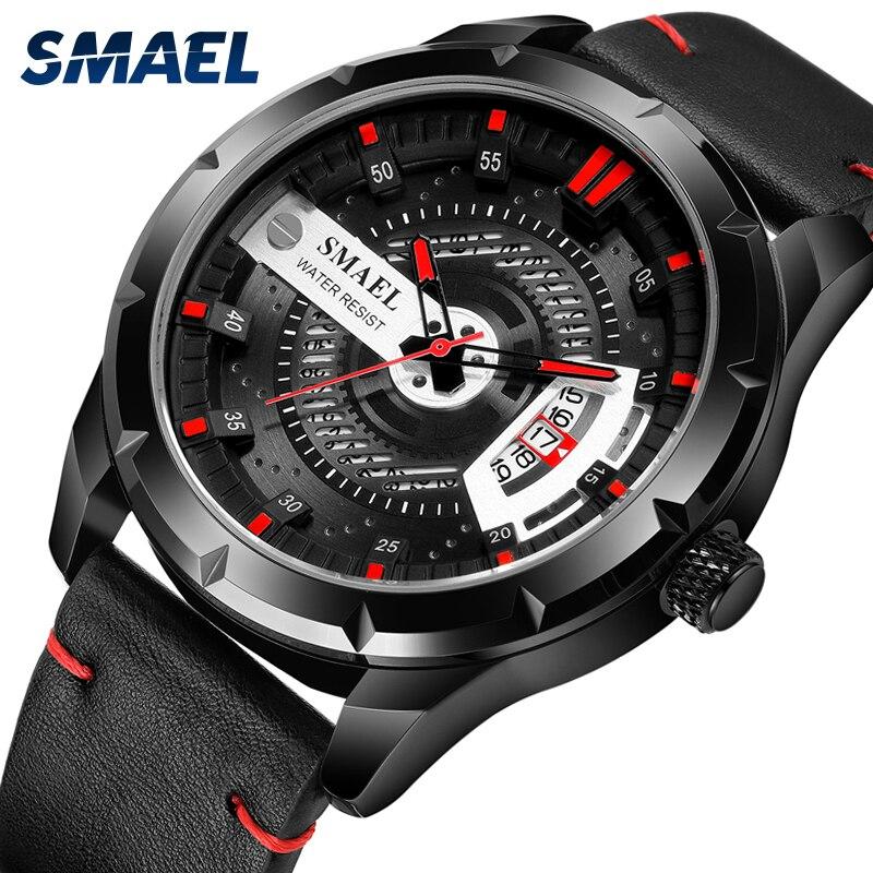 SMAEL-relojes deportivos para hombre, marca de lujo, reloj de pulsera, de moda,...
