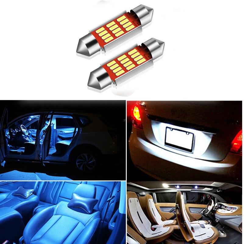 2pcs Nenhum Erro Canbus Lâmpada LED Festoon 36mm Número de Licença Placa De Luz Para Audi TT A4 A6 C5W A8 Q3 Q5 Q7 A5 S4 A2 A3 B5 B6 C5 C6