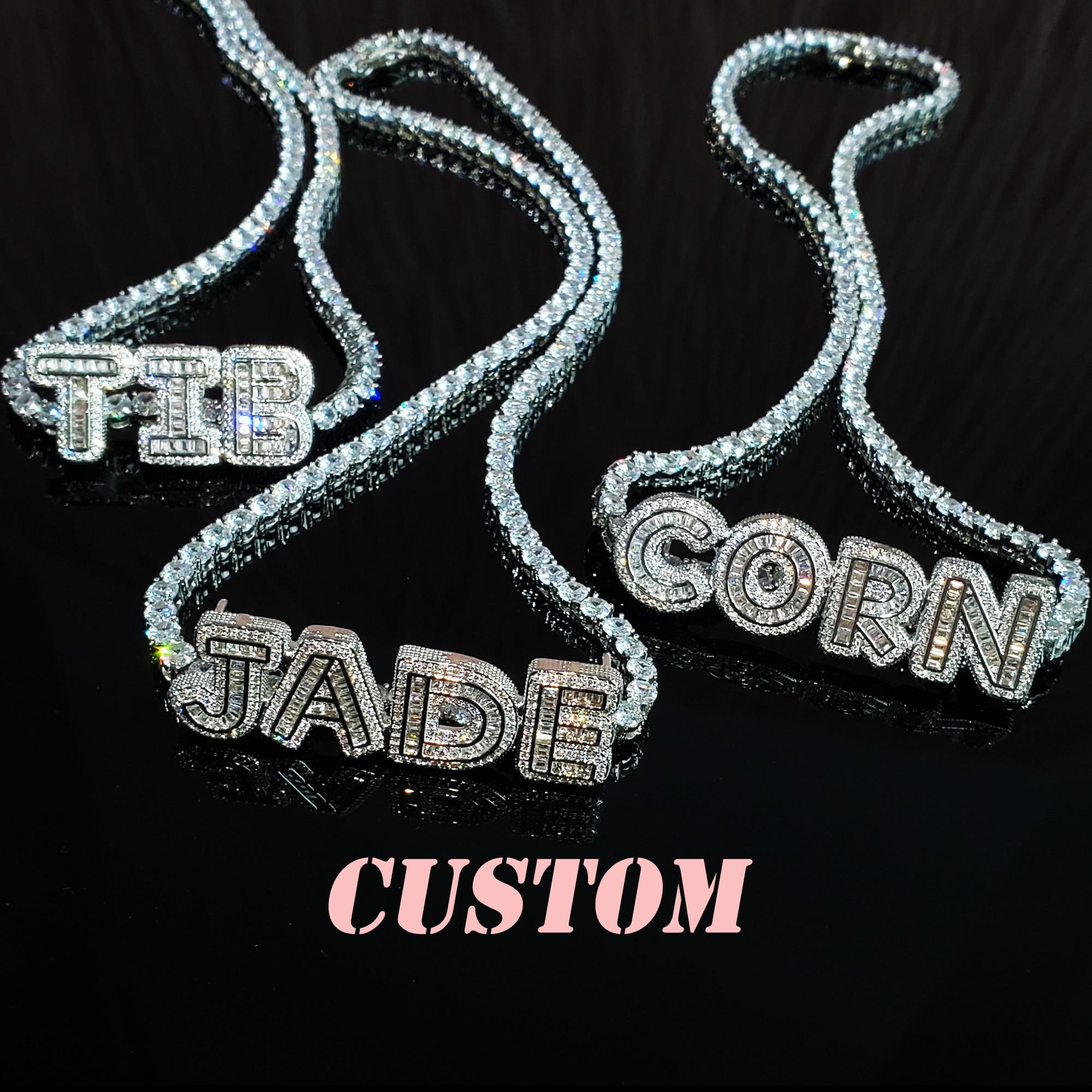 Оригинальное наименование, комбинированная стандартная теннисная цепь, персонализированное название, модные аксессуары