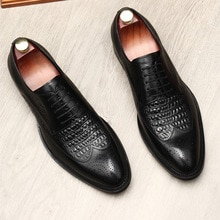 New Arrivals Dress Shoes Genuine Leather Oxford Shoe For Men Crocodile Pattern Formal Wedding Office