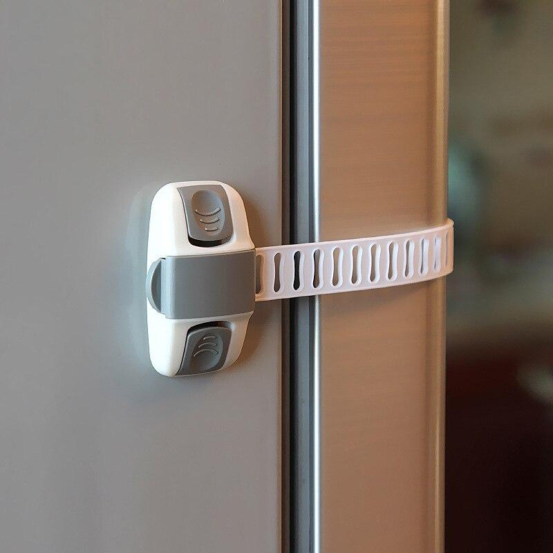 1 Uds. Cerradura de seguridad para bebés protección de seguridad para niños para armario de seguridad para niños pequeños cierre para refrigerador armario con ventana