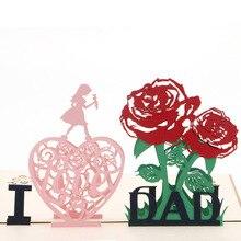 Carte de vœux Pop Up I Love Dad en 3D   Carte dinvitation H7EA pour anniversaire, cadeau de saint valentin, noël